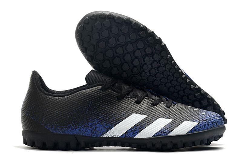 2021 Adidas Predator 21.4 TF Black Blue Stud Football Boots Outside