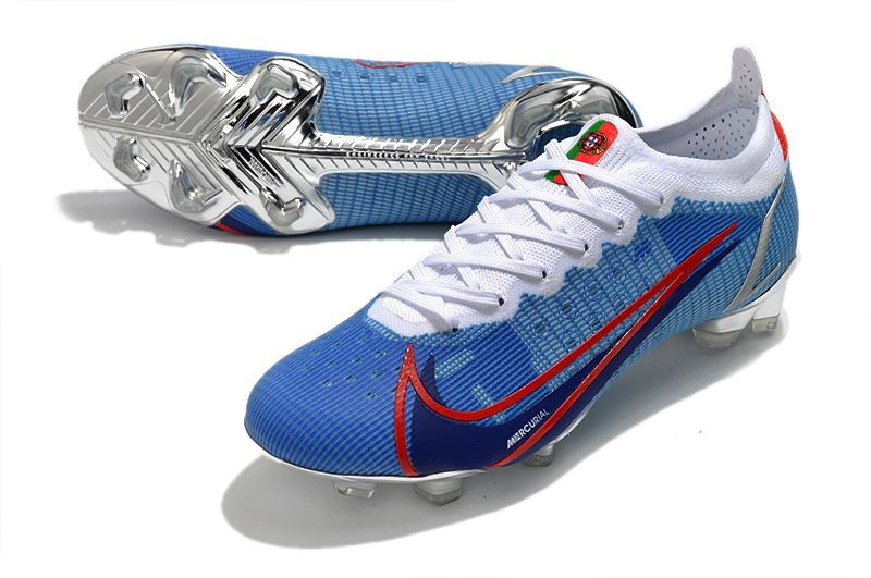 2021 new Nike Vapor 14 Elite MDS FG blue and gold football shoes vamp