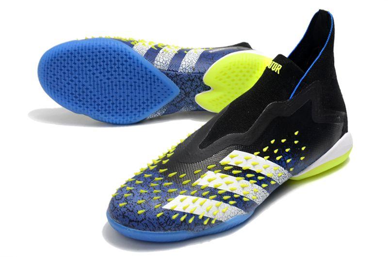 Adidas latest PREDATOR FREAK + IC black cyan football shoes vamp