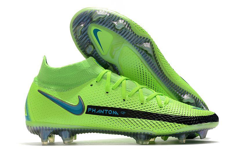 Nike Phantom GT Elite DF FG black and green football shoes