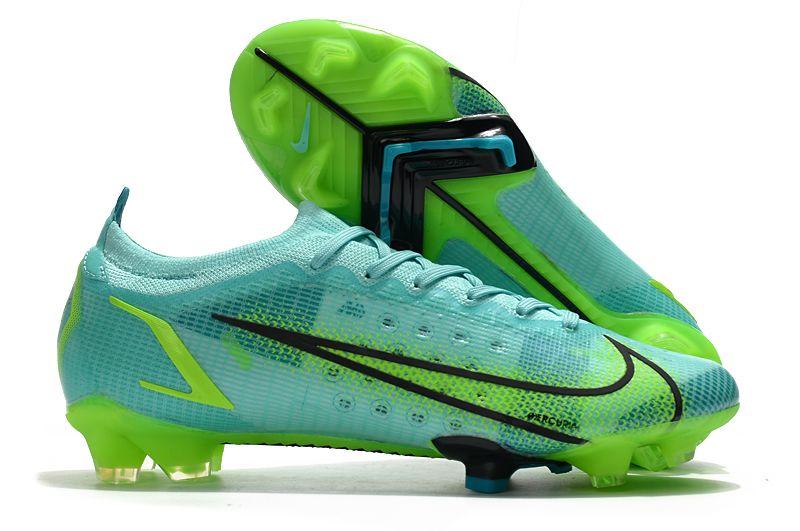 Nike Vapor 14 Elite FG blue and green football shoes side