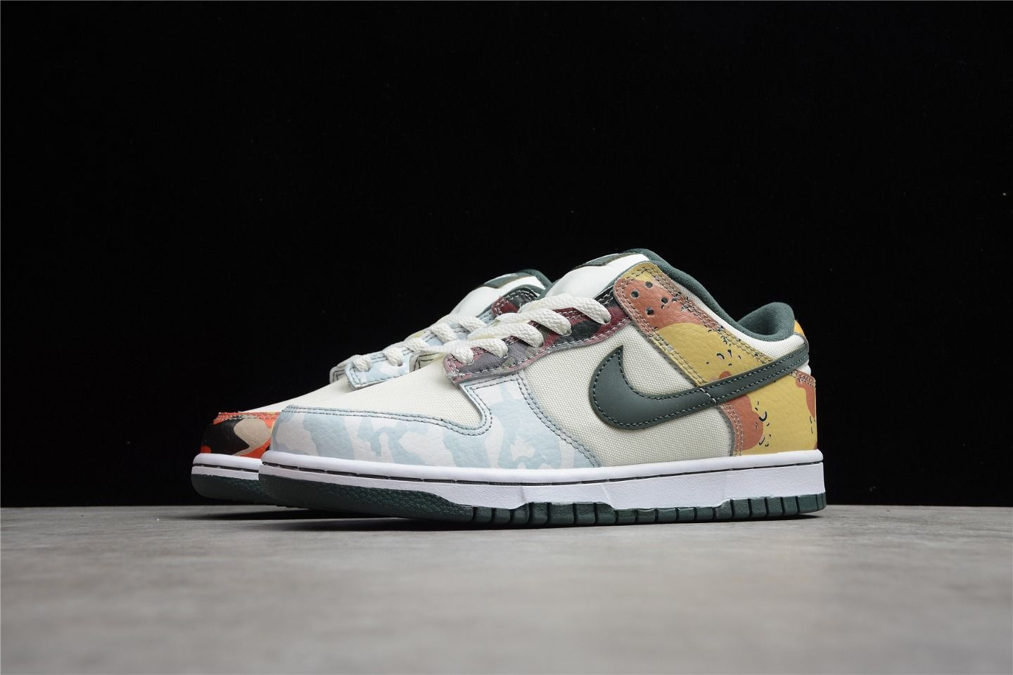 2021 New Nike Dunk Low Multi-Camo DH0957-100 side