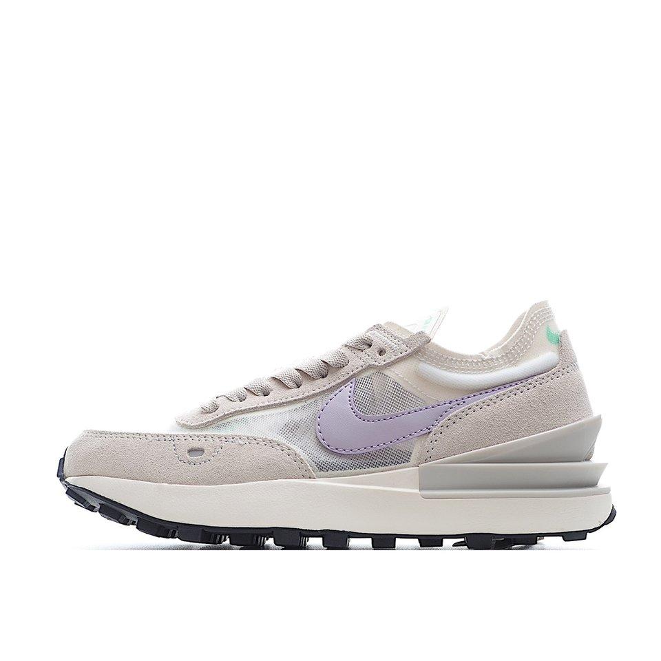 2021 New Women's Nike Waffle One Gray Purple DC2533-101