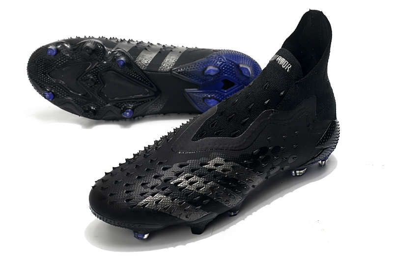 Adidas PREDATOR FREAK + FG black and blue football boots vamp