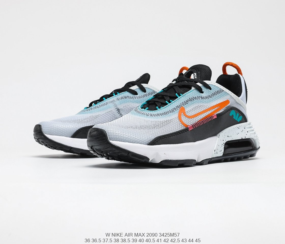 Best selling Nike Air Max 2090 White Turf Orange Speckled Outlet Sale CZ1708-100 vamp