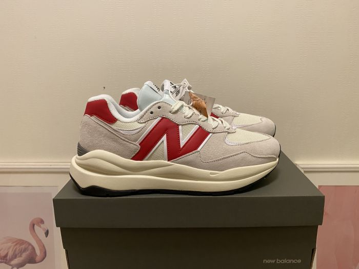 New Balance M5740CC gray and red casual shoes