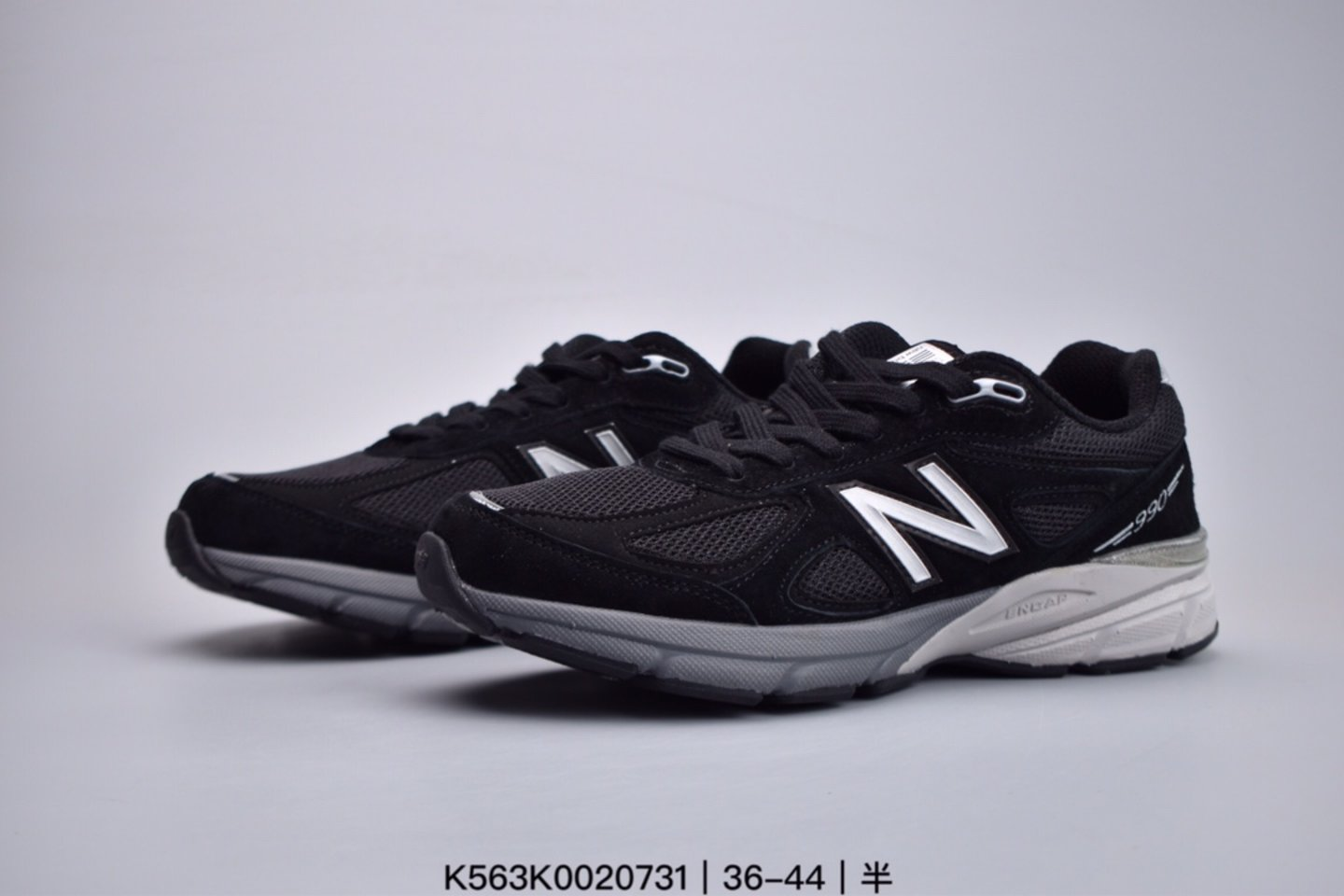 New Balance M990 Black Grey Casual Shoes Jogging Shoes overall