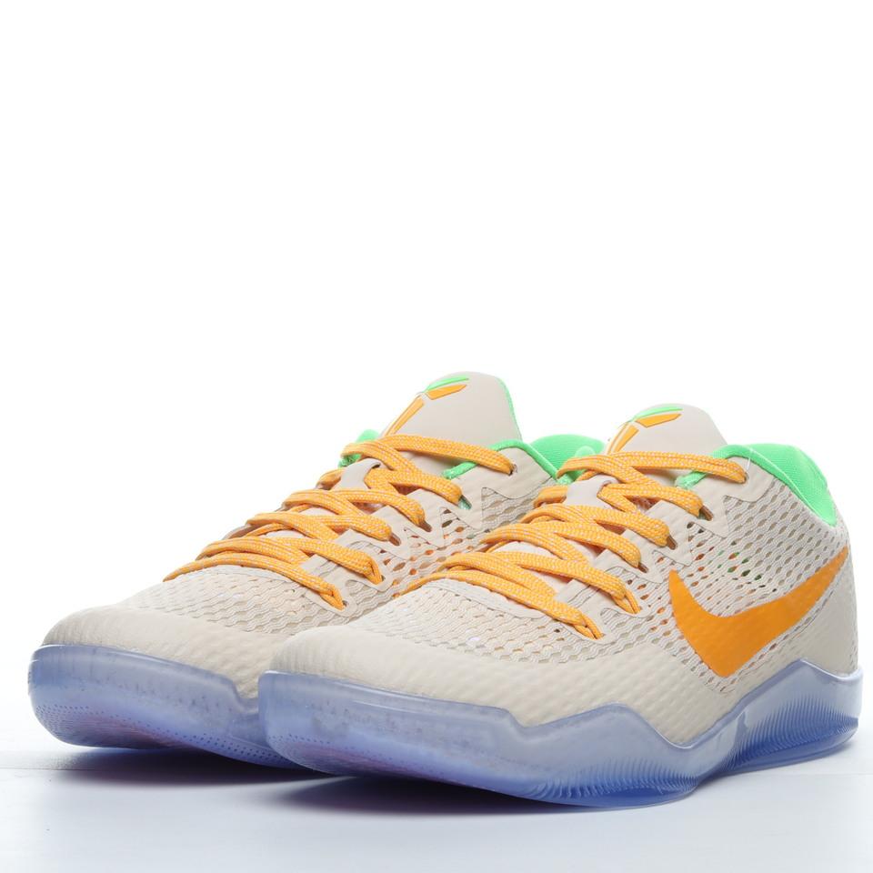 New Nike Kobe 11 Peach Jam PE Running Shoes 856852-282 vamp