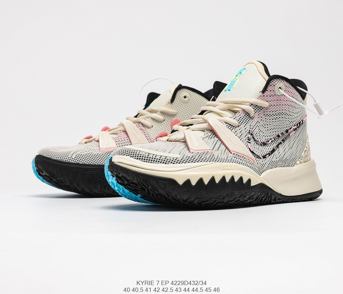 """Nike Kyrie 7 EP """"Pale Ivory"""" Mens Casual Basketball Shoes CZ0143-100 overall"""