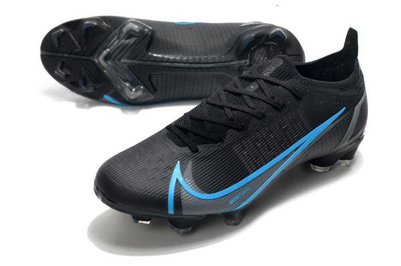Nike Mercurial Vapor XIV Elite FG black and blue football shoes vamp