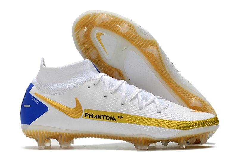 Nike Phantom GT Elite Dynamic Fit FG white and yellow football shoes