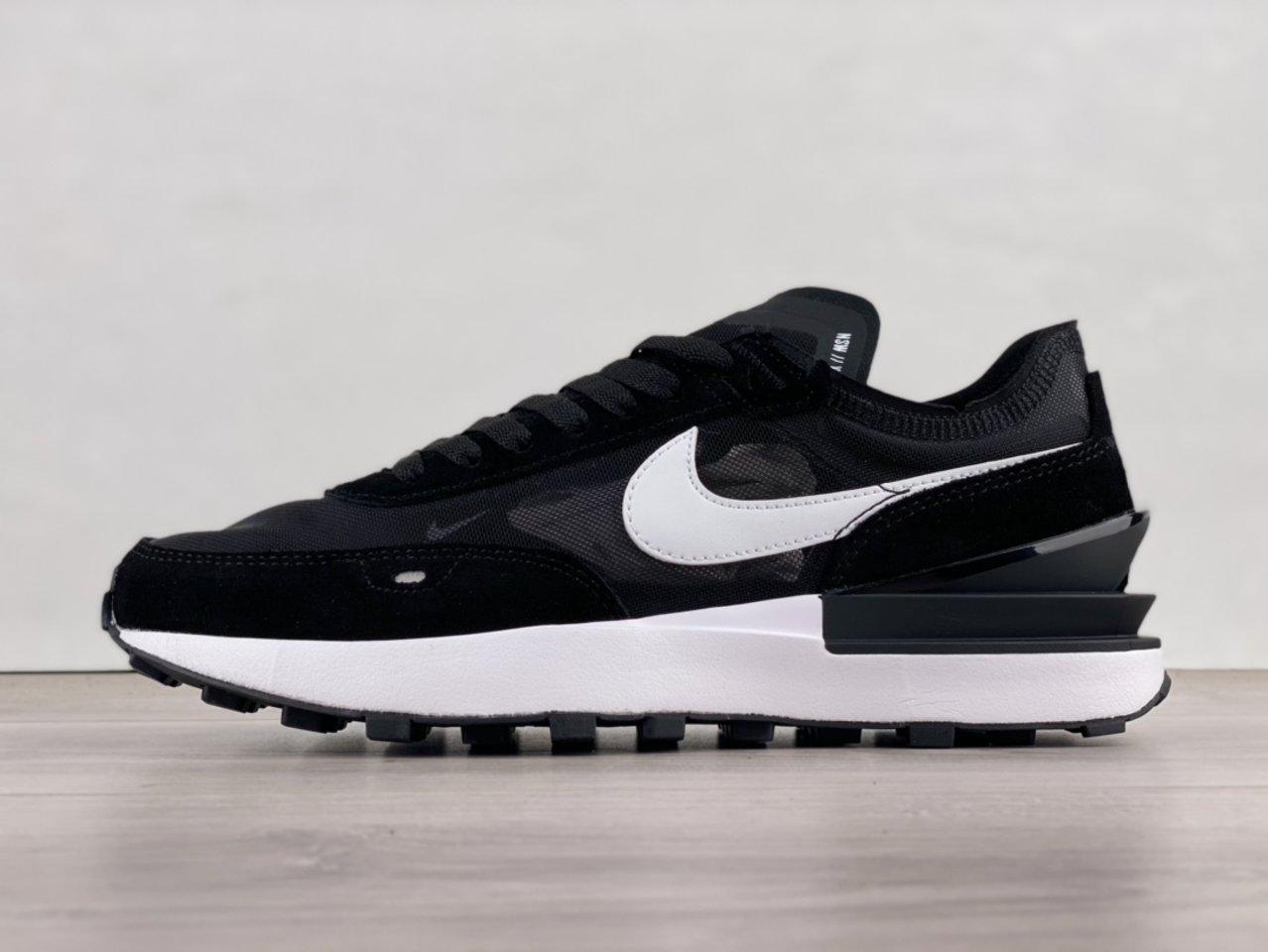 Nike Waffle One Black Running Shoes DC2533-001