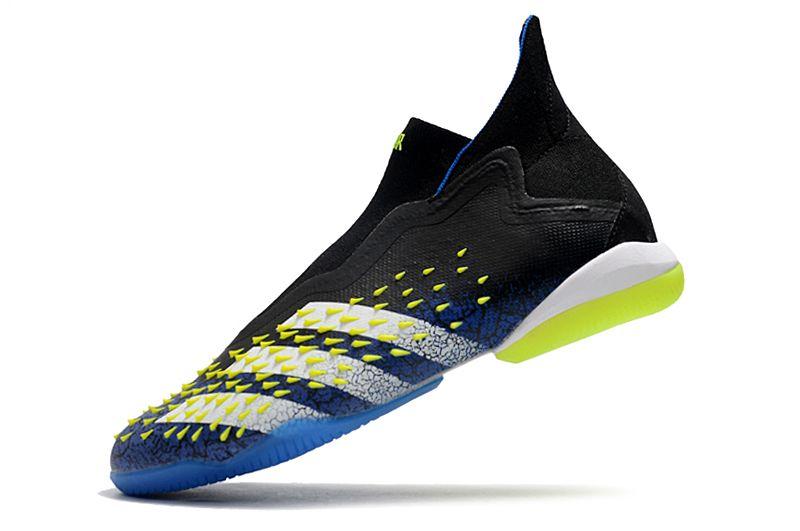 Adidas PREDATOR FREAK + IC black blue blue football shoes LeftAdidas PREDATOR FREAK + IC black blue blue football shoes Left