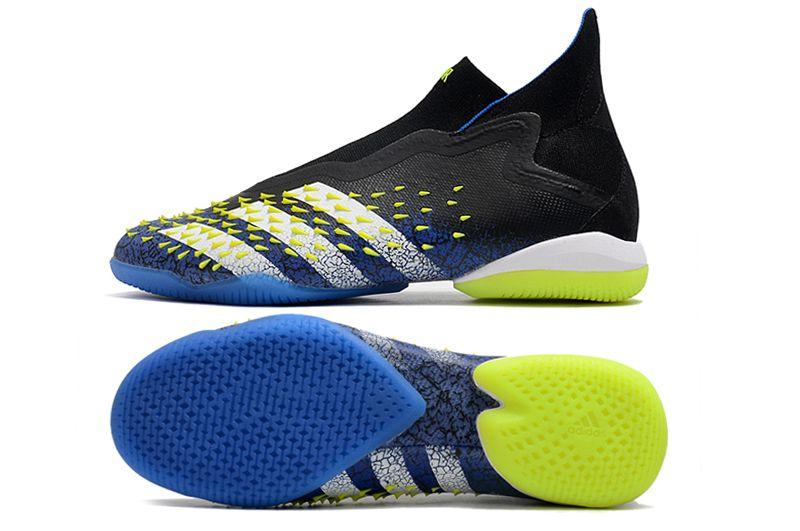 Adidas PREDATOR FREAK + IC black blue blue football shoes Sole