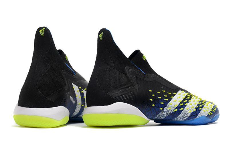 Adidas PREDATOR FREAK + IC black blue blue football shoes side