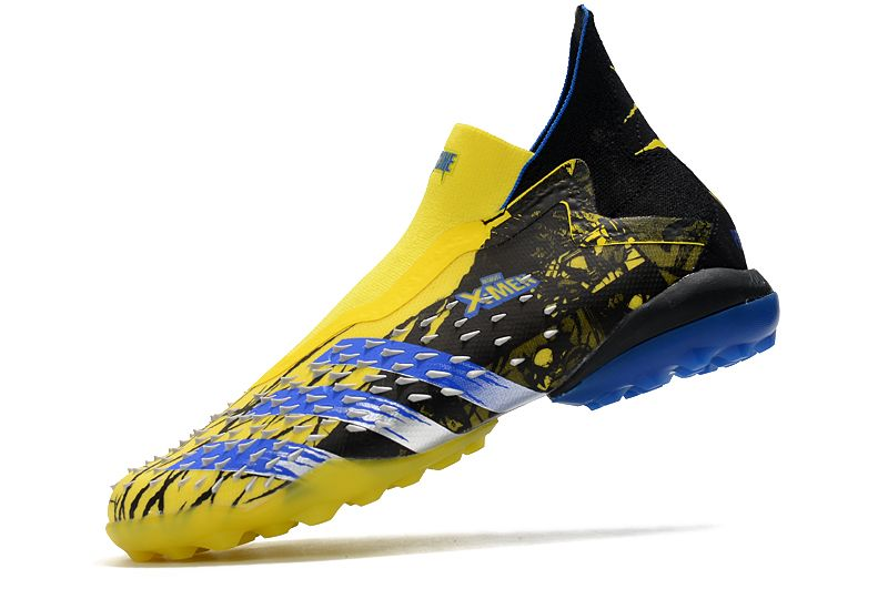 Adidas PREDATOR FREAK + TF rivet yellow and black football boots Left