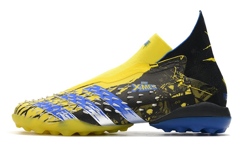 Adidas PREDATOR FREAK + TF rivet yellow and black football boots Outside