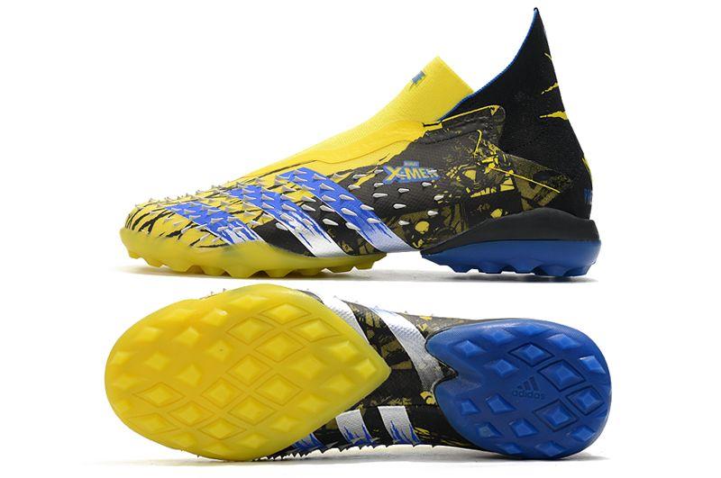 Adidas PREDATOR FREAK + TF rivet yellow and black football boots Sole