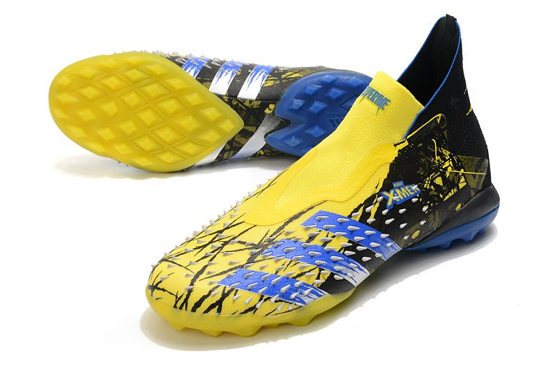 Adidas PREDATOR FREAK + TF rivet yellow and black football boots vamp