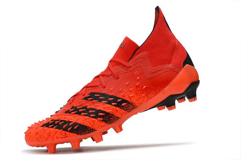 Adidas PREDATOR FREAK.1 AG red and black football boots Left