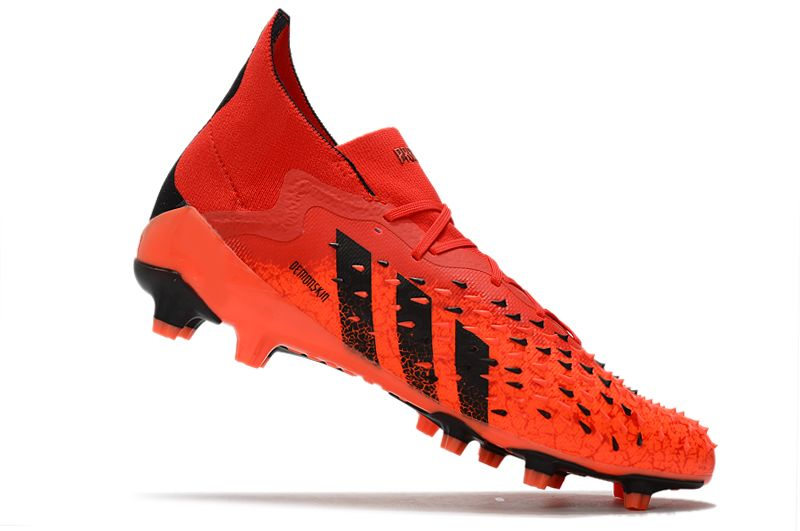 Adidas PREDATOR FREAK.1 AG red and black football boots Right