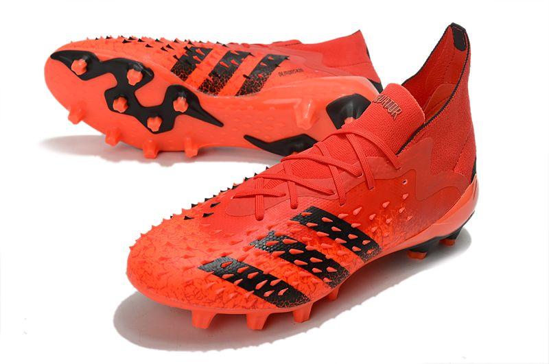 Adidas PREDATOR FREAK.1 AG red and black football boots vamp