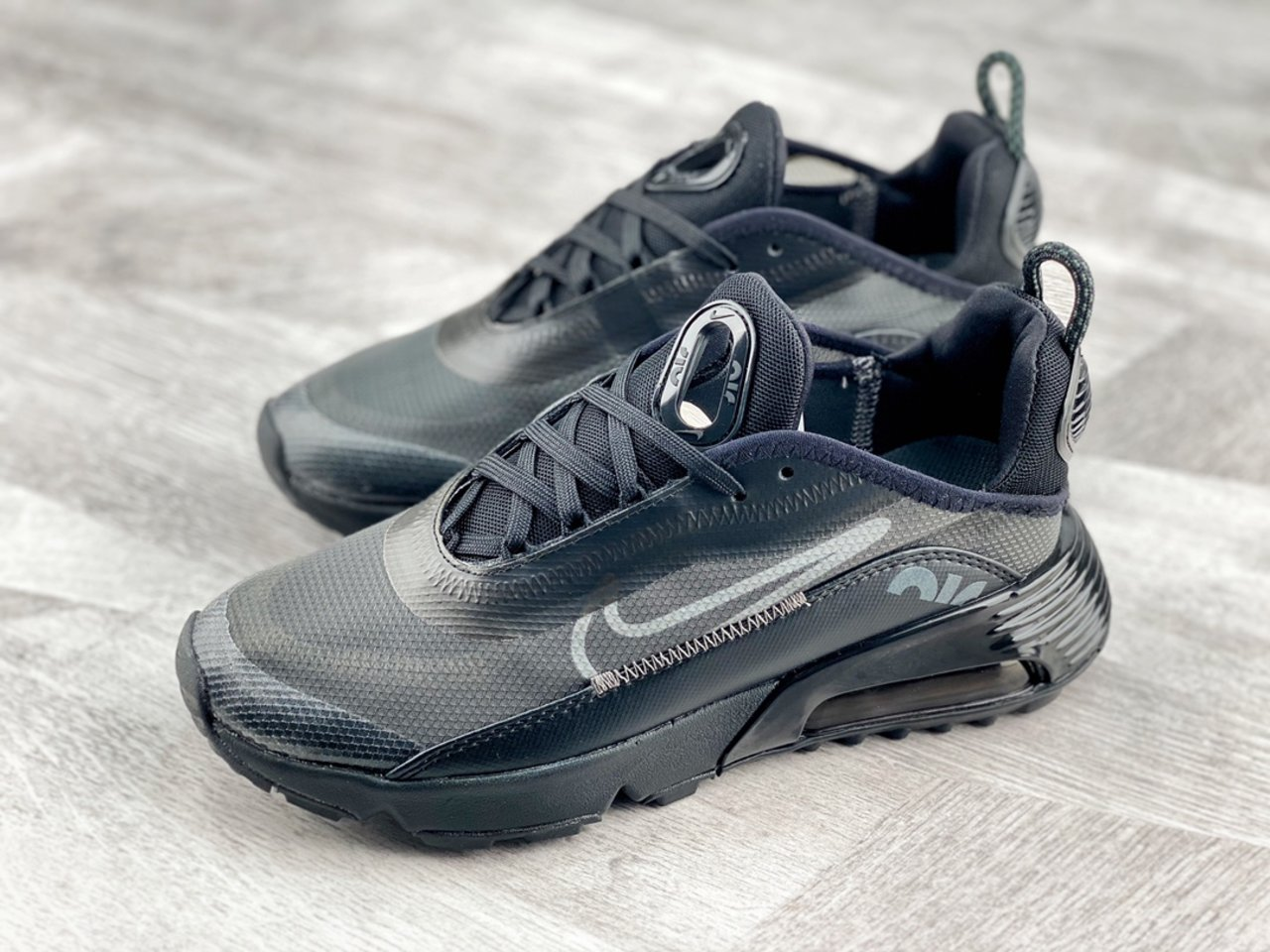 Fashion Nike Air Max 2090 Black Wolf Grey Outlet Sale BV9977-001 overall