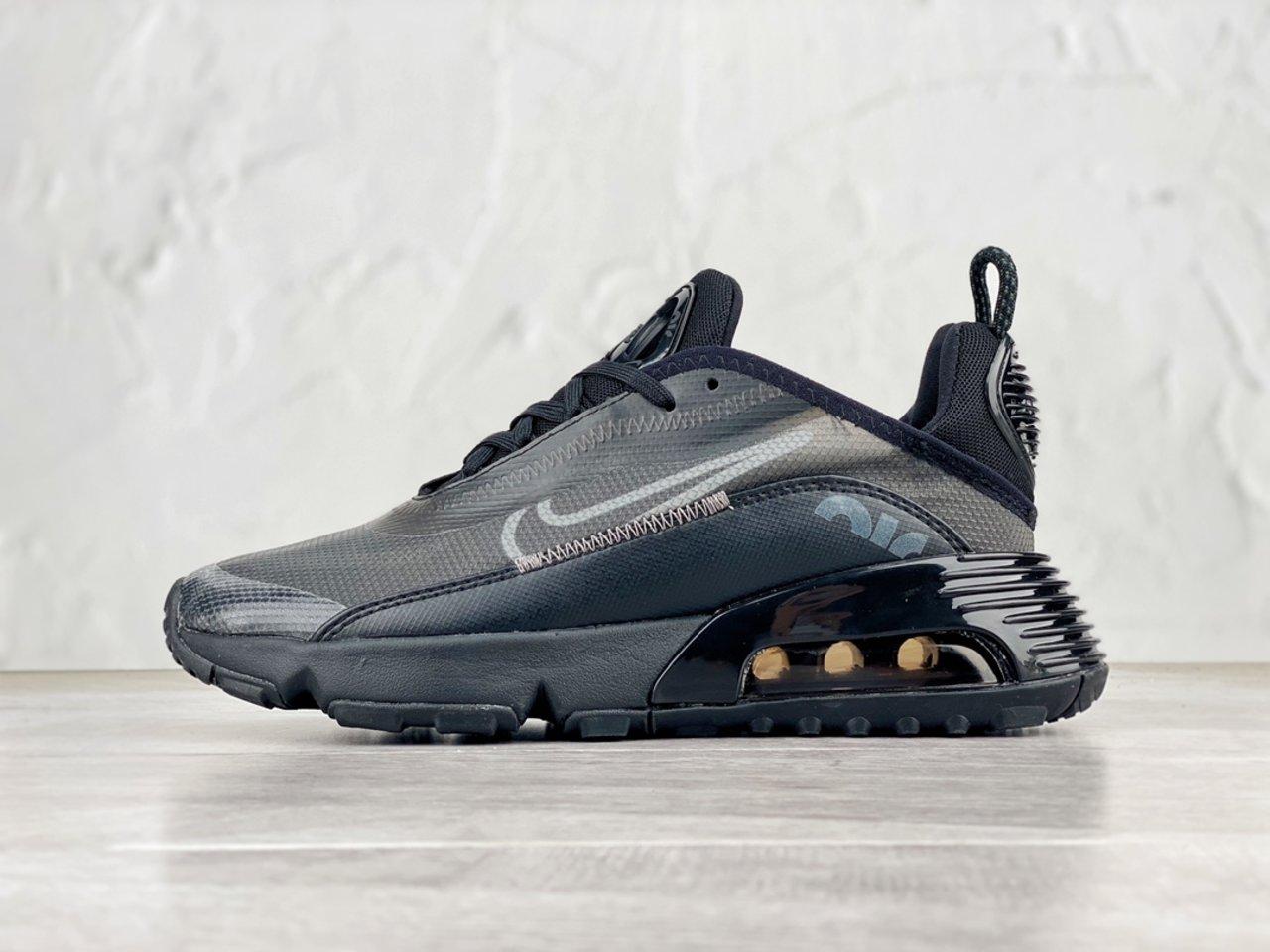 Fashion Nike Air Max 2090 Black Wolf Grey Outlet Sale BV9977-001