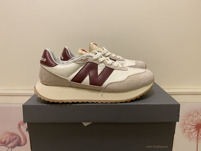 New Balance MS237SB red gray white casual shoes