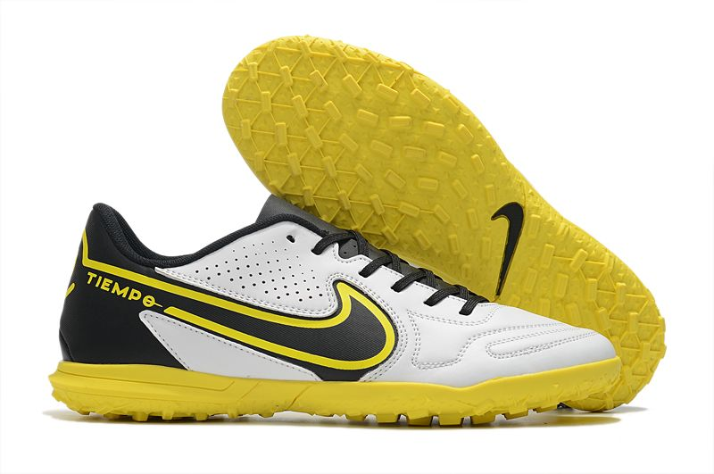 Nike Legend 9 Club TF yellow and white football boots