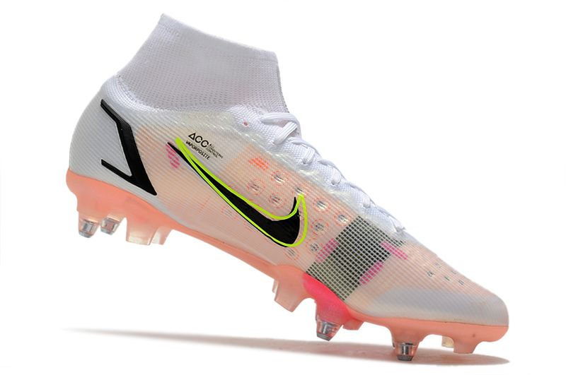 Nike Mercurial Superfly VIII Elite SG PRO Anti Clog black pink football shoes Inside
