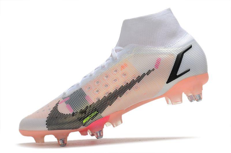 Nike Mercurial Superfly VIII Elite SG PRO Anti Clog black pink football shoes Left