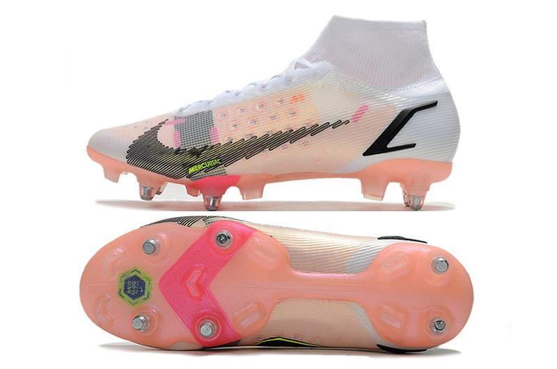 Nike Mercurial Superfly VIII Elite SG PRO Anti Clog black pink football shoes Sole