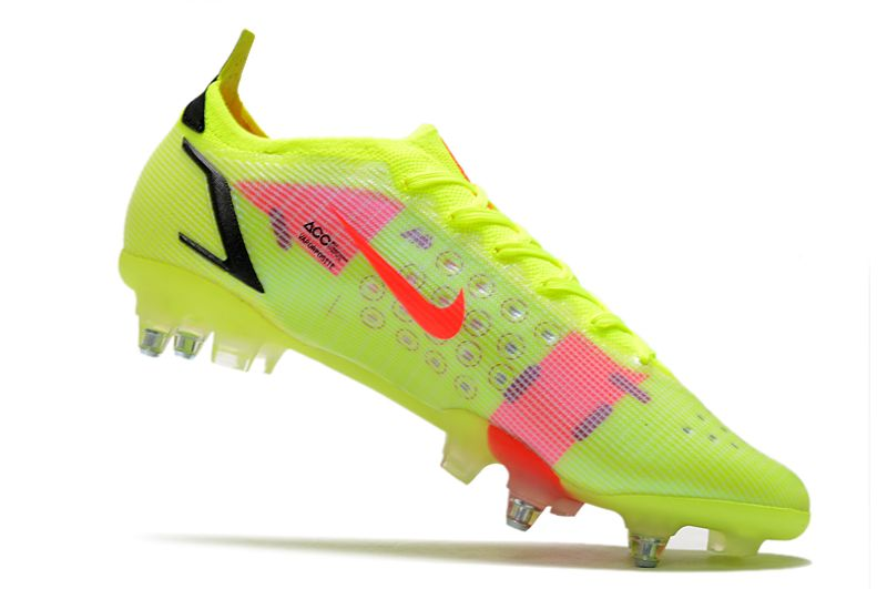 Nike Mercurial Vapor XIV Elite SG PRO Anti Clog yellow and red football shoes Inside