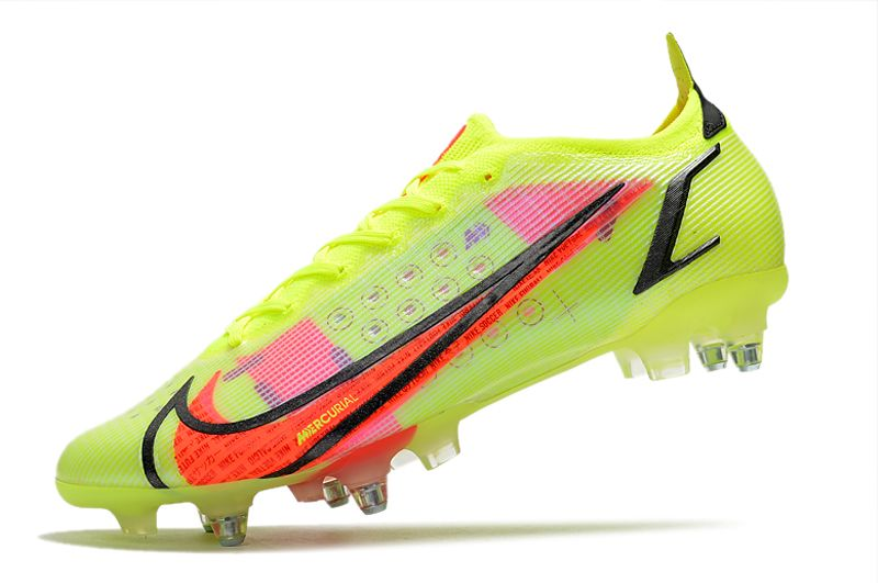 Nike Mercurial Vapor XIV Elite SG PRO Anti Clog yellow and red football shoes Left