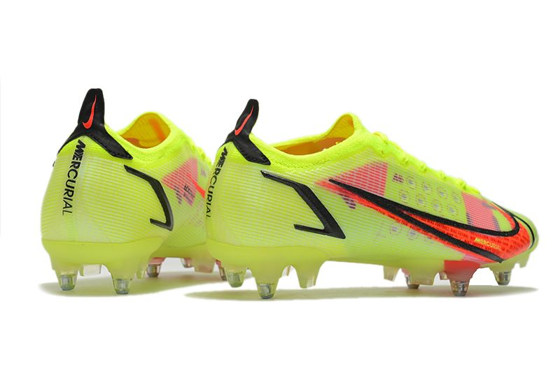 Nike Mercurial Vapor XIV Elite SG PRO Anti Clog yellow and red football shoes Right