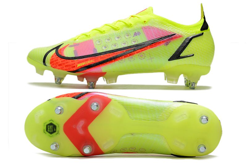 Nike Mercurial Vapor XIV Elite SG PRO Anti Clog yellow and red football shoes Sole