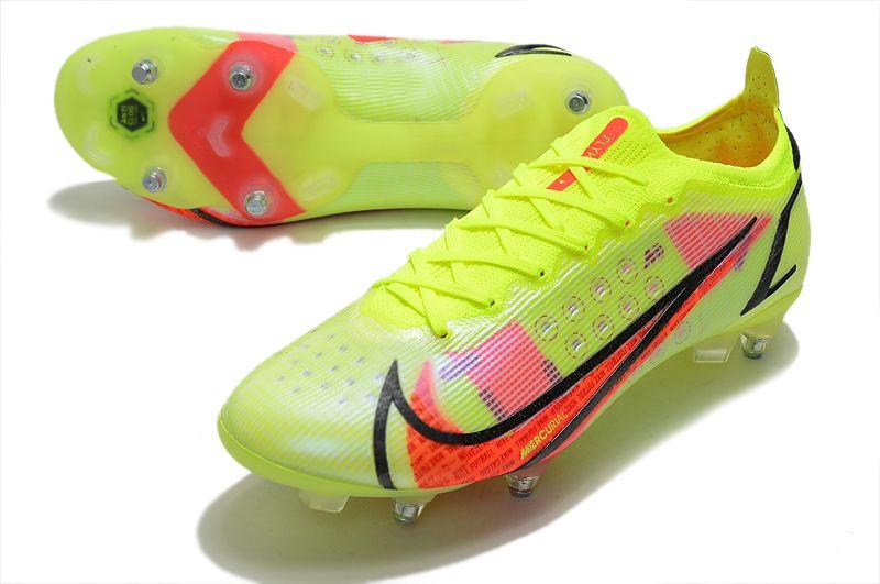 Nike Mercurial Vapor XIV Elite SG PRO Anti Clog yellow and red football shoes vamp