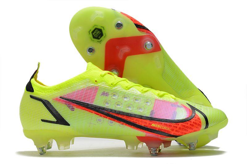 Nike Mercurial Vapor XIV Elite SG PRO Anti Clog yellow and red football shoes