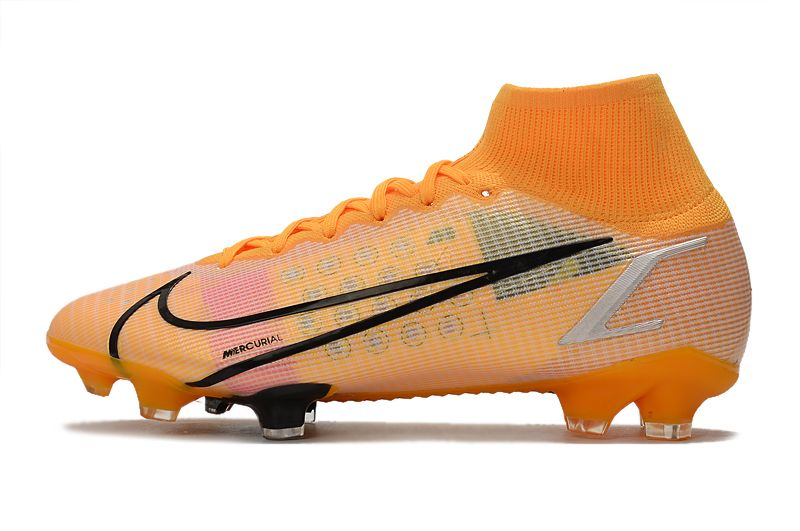 Nike Superfly 8 Elite FG yellow and black football boots Outside