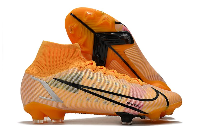 Nike Superfly 8 Elite FG yellow and black football boots Right