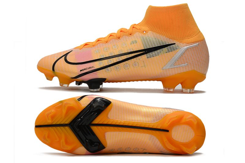 Nike Superfly 8 Elite FG yellow and black football boots Sole