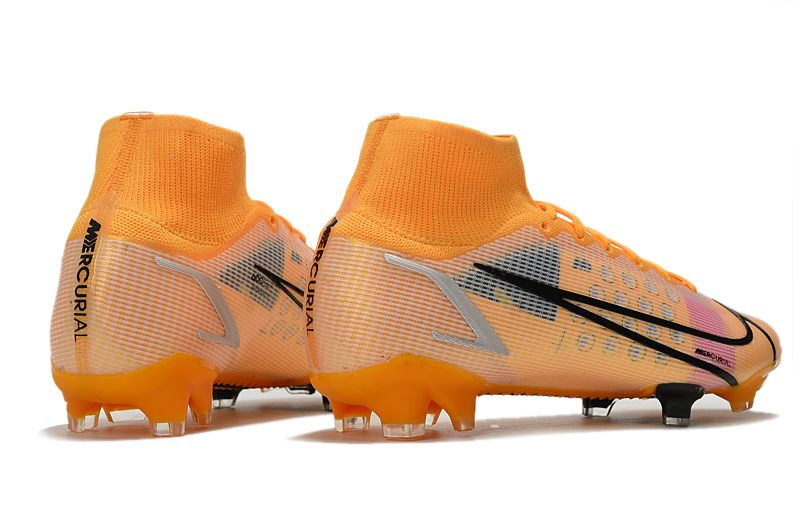 Nike Superfly 8 Elite FG yellow and black football boots side