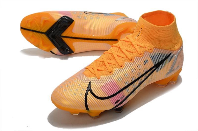 Nike Superfly 8 Elite FG yellow and black football boots vamp