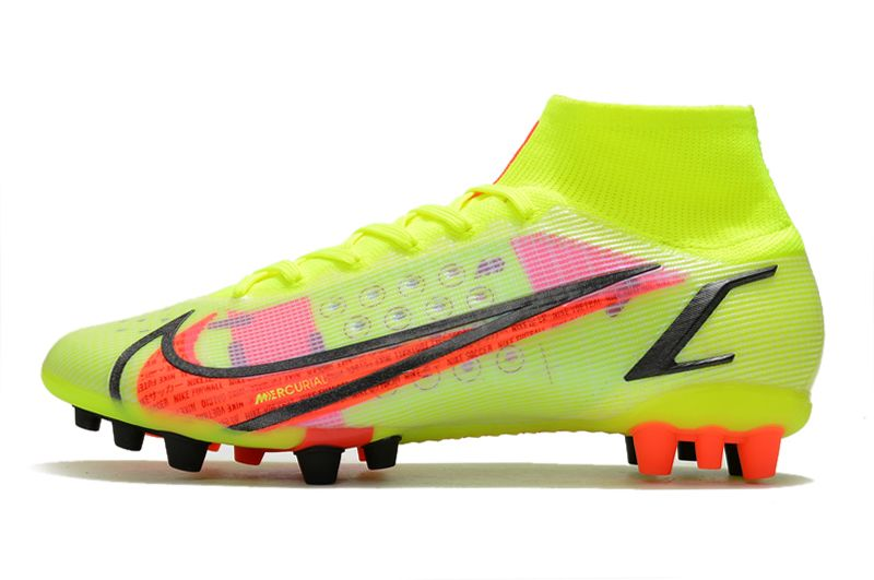 Nike Superfly 8 Pro AG yellow black red football boots Left