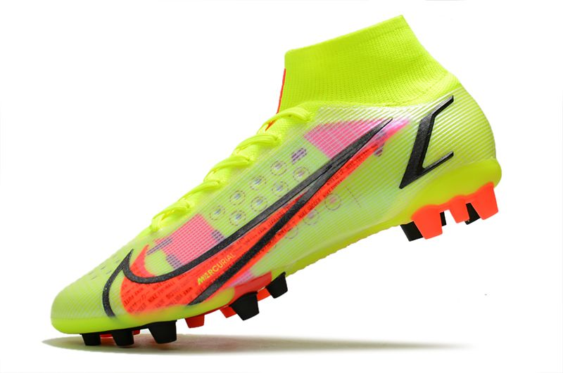 Nike Superfly 8 Pro AG yellow black red football boots side