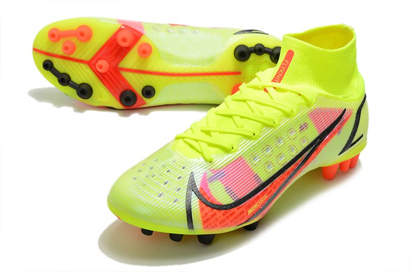 Nike Superfly 8 Pro AG yellow black red football boots vamp