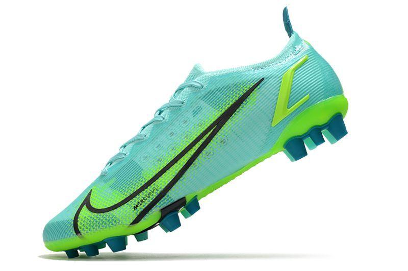 Nike Vapor 14 Elite PRO AG blue and green football shoes Left
