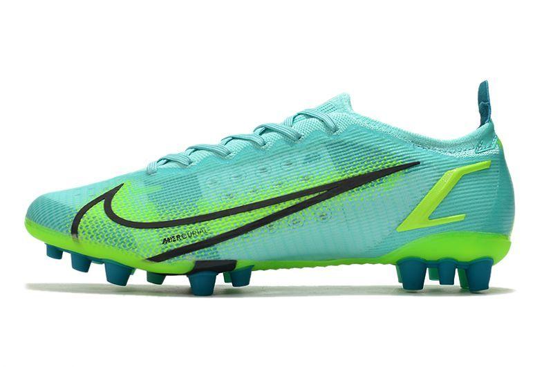 Nike Vapor 14 Elite PRO AG blue and green football shoes Outside