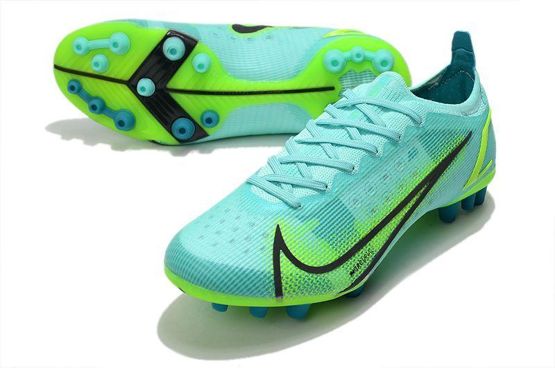 Nike Vapor 14 Elite PRO AG blue and green football shoes vamp